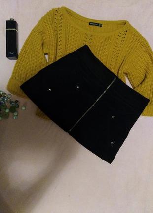 Шикарная актуальная юбка замшевая оригинал