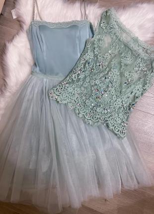 Платье в камнях swarovski