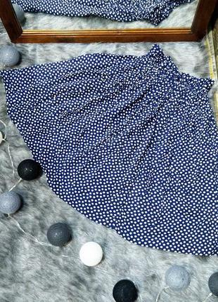 Пышная юбка в трендовый горох из натуральной вискозы