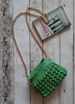 Клатч handmade цвета зеленое яблоко