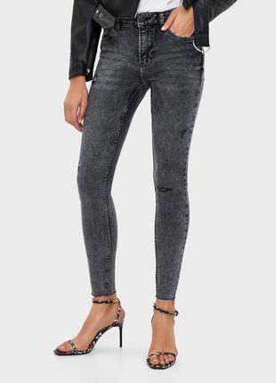 Джинсы джинси слим укороченные скинни скінні качественные новые bershka