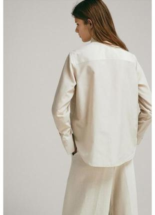 Бежевая рубашка marco polo удлиненная