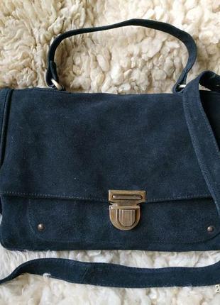 Деловая сумка-портфель active wear . замша.