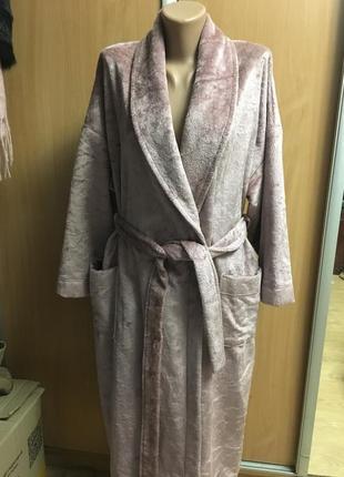"""Шикарный велюровый халат """"люкс велюр"""" можно на подарок новый с биркой размер 16-18"""