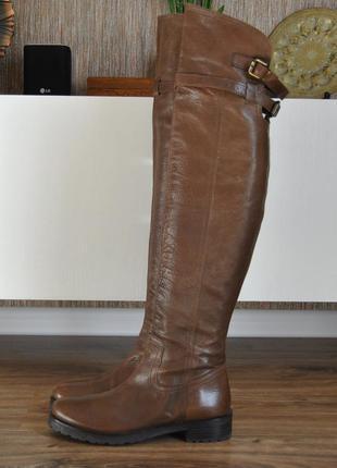 Кожаные ботфорты сапоги р-р 37-38 /шкіряні ботфорти чоботи