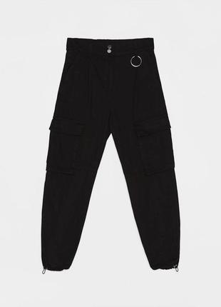 Джинсы джинсы брюки карго джоггеры укороченные качественные новые bershka