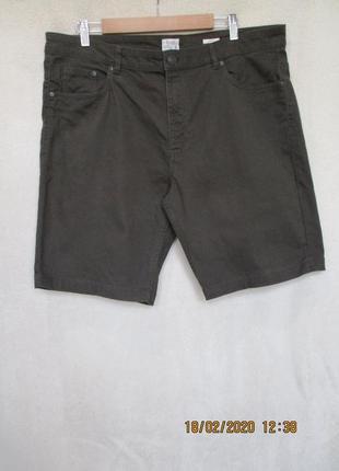 Стильные коттоновые шорты/стрейч/хаки