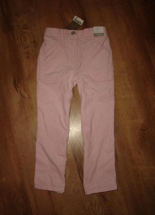Next новые вельветовые брюки некст на 3-4 года прямого покроя