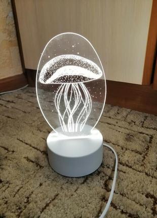 Светильник ночник медуза