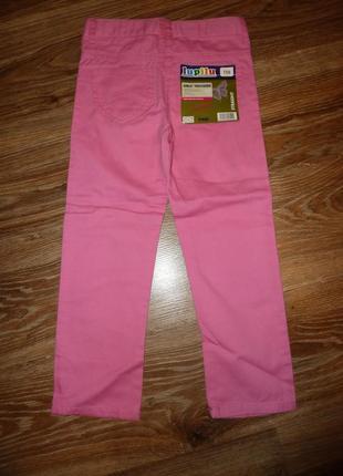 Новые розовые джинсы lupilu на 4-5 лет, 100% котон т