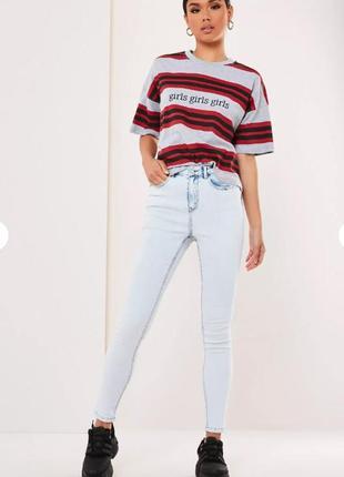 Missguided. товар из англии. джинсы скинни с эффектом acid wash