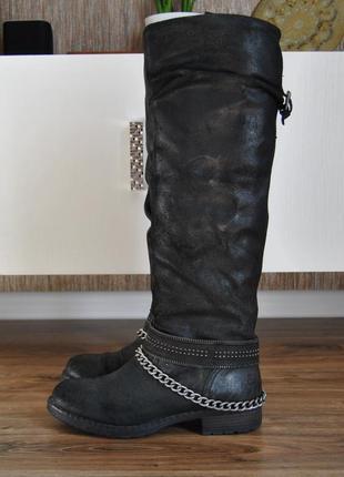Кожаные сапоги  bullboxer / шкіряні чоботи