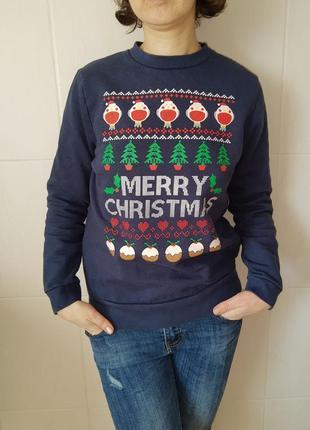 Свитшот, пуловер новогодний, рождественский