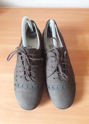 38p. waldlaufer кожаные супер комфортные туфли мокасины