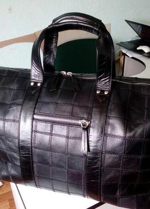 Дорожная сумка кожа большая