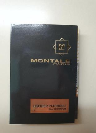 Пробник нишевой парфюмерии montale leather patchouli, 2 мл.