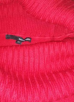 Теплое красное платье от tally weijl2