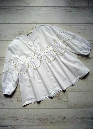 Красивая блуза  с бусинами р. 12