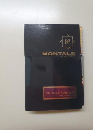Пробник нишевой парфюмерии montale orchid powder, 2ml.