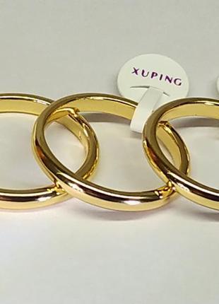 Позолоченное обручальное кольцо 3 мм, обручалки, позолота+видеообзор