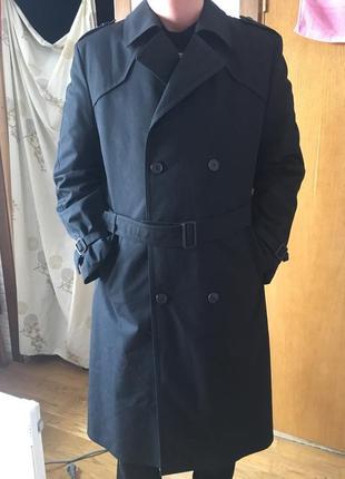 Темно-синий мужской плащ-тренч canda,stok из голландии
