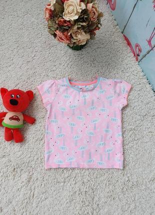 Милая футболка с фламинго