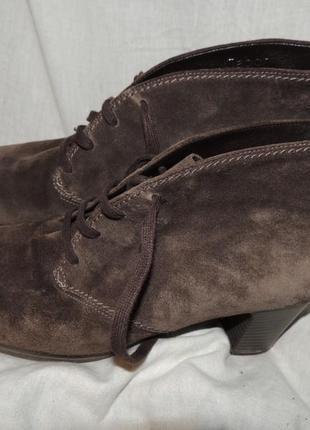 Качественные замшевые ботинки gabor 41.5 \8.5