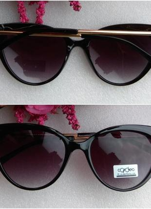 Новые стильные очки лисички, черные