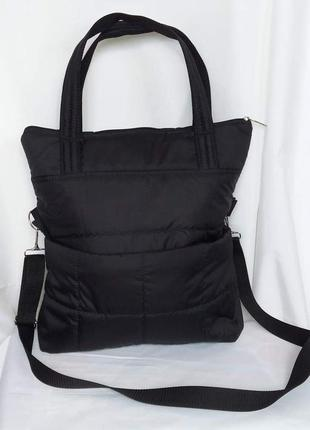 Шоппер сумка- рюкзак демисезонная дутик 3в1 легкая удобная