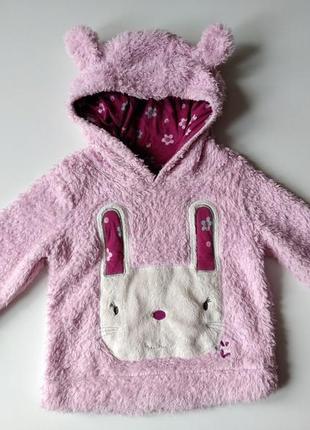 Очень теплый зимний свитер с ушками 1,5-2-3 года