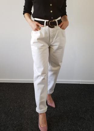 Белые джинсы мом, размер 29