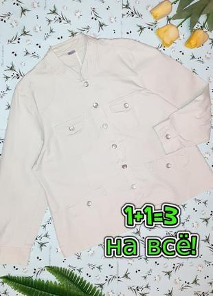 🎁1+1=3 базовая джинсовая куртка джинсовка демисезон осень - весна damart, размер 56 - 58