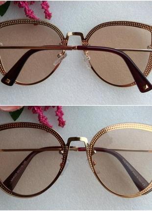 Новые красивые очки бабочки, бежевые