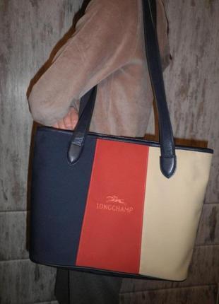 Стильная модная узнаваемая сумка longchamp tote bag качество франция
