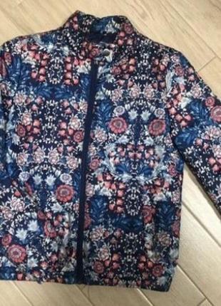 Куртка принт цветная дутая пуховик