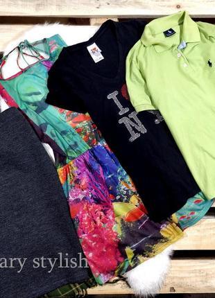 Пакет вещей одним лотом юбка в катышку, платье, 2 футболки