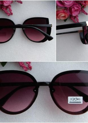 Новые модные очки бабочки с блестящей боковой защитой, малиновые