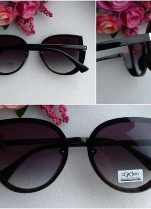 Новые модные очки бабочки с блестящей боковой защитой, черные