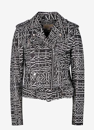 Кожаная куртка michael kors leather moto jacket оригинал!