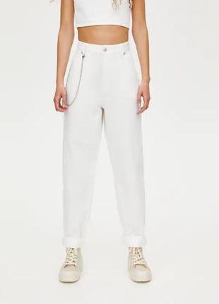 Джинсы джинси мом мам момы белые качественные новые pull&bear
