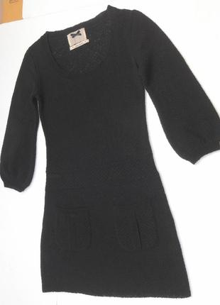 Итальянское шерстяное платье с кармашками.