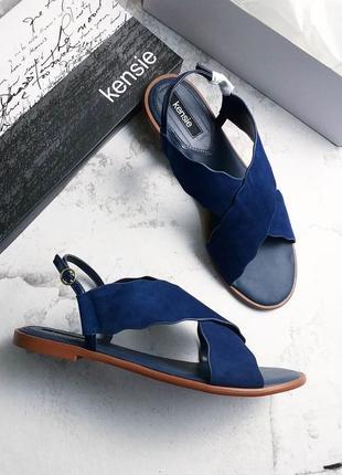 Kensie оригинал темно-синие замшевые сандалии босоножки
