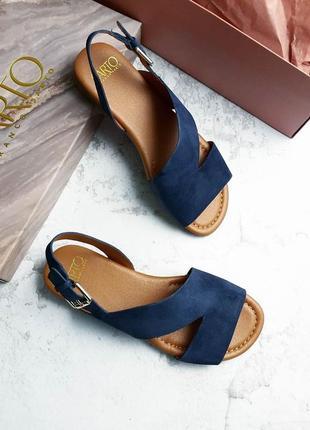 Franco sarto оригинал синие замшевые сандалии
