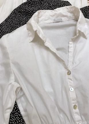 Блуза рубашка хлопок бохо на резинке объемный рукав тренд модель2 фото