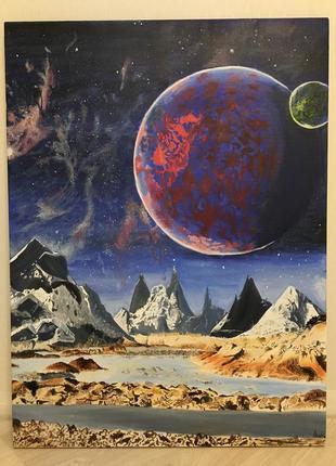 """Картина маслом """"space"""""""