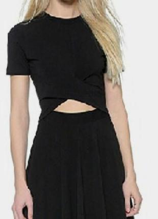 Топ + юбка черные