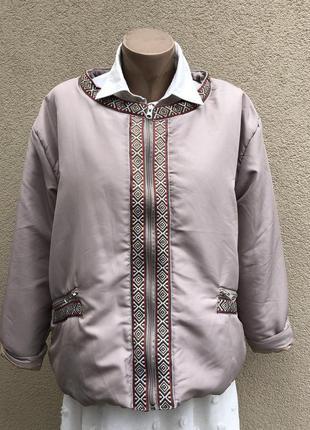 Легкая куртка,вышивка тесьмой,большой размер,gabriella vicenza