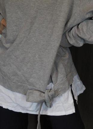 Свитшот кофта реглан rainbow с имитацией рубашки