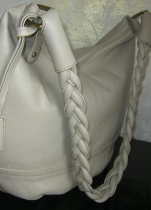 Великобритания сумка мешок баул кожаная легкая на молнии длинная ручка в идеале кожа