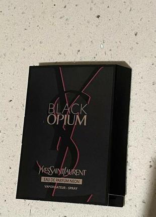 Yves saint laurent black opium neon фирменный пробник.